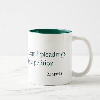 The journey of a thousand pleadings... Two-Tone coffee mug