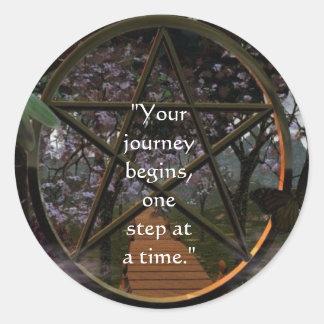 The Journey Round Sticker