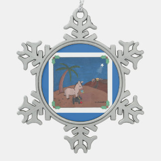 THE JOURNEY SNOWFLAKE PEWTER CHRISTMAS ORNAMENT