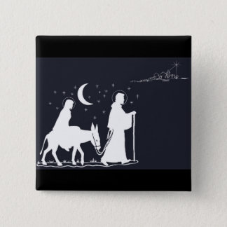 The Journey To Bethlehem 2 Inch Square Button