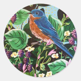 The Joy of Jam Bluebird Classic Round Sticker