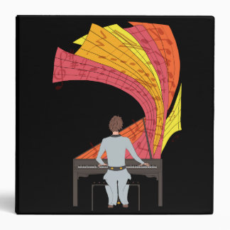 The joy of playing piano illustration (black) binder