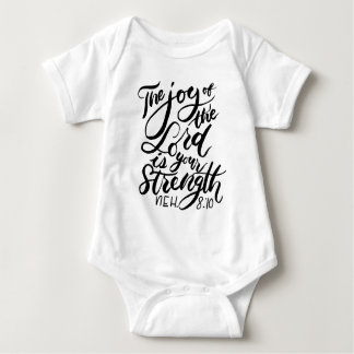 The Joy of the Lord Brush Script Baby Bodysuit