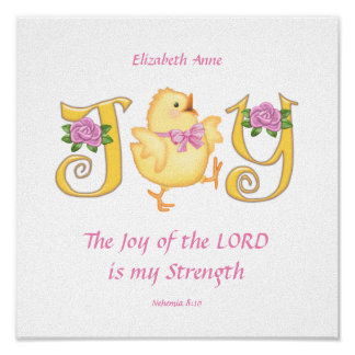 The Joy of the LORD - Chick Poster