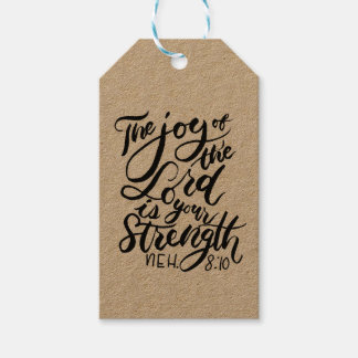 The Joy of the Lord is Your Strength Brush Script Gift Tags