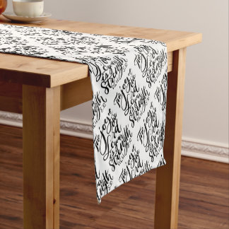 The Joy of  the Lord is Your Strength Brush Script Short Table Runner