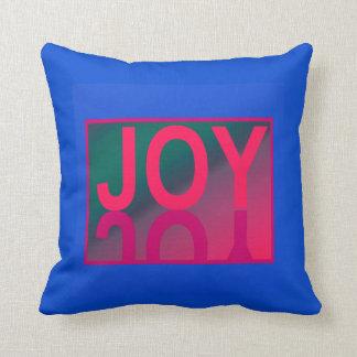 The JOY Pillow-Home Decor- Green/Blue/Pink Throw Pillow