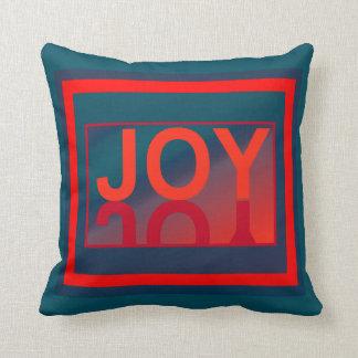 The JOY  Pillow-Home Decor-Red/Blue/Teal Throw Pillow