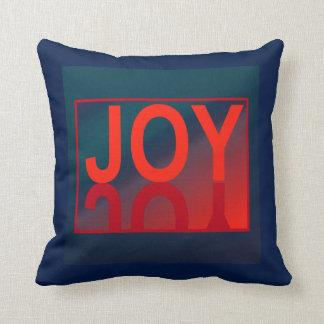 The JOY  Pillow-Home Decor- Red/Teal/Blue Throw Pillow