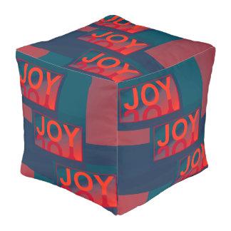 The JOY  Pouf-Home Decor-Blue/Teal/Red/Orange Pouf