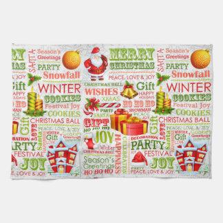 The Joys Of Christmas Kitchen Towel