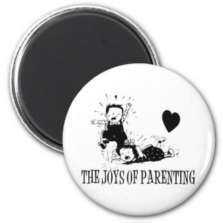 The Joys Of Parenting 2 Inch Round Magnet