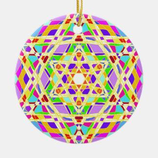The Judaical vitrail. Round Ceramic Ornament