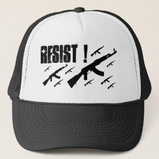The Judged Black AK resist trucker hat