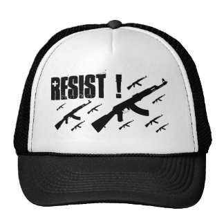 The Judged Black AK resist trucker hat