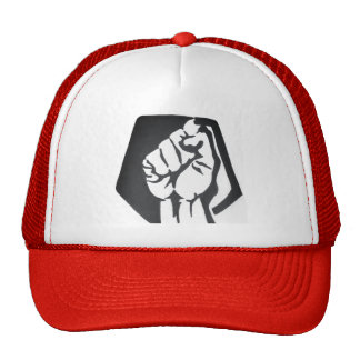 The Judged  red resist fist trucker hat