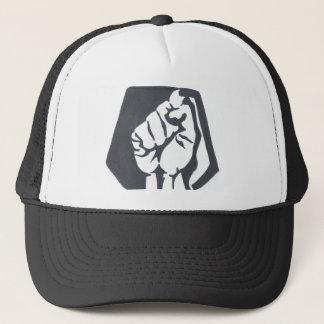 The Judged resist fist trucker hat