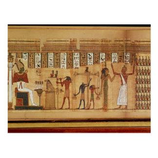 The Judgement of Osiris, detail Postcard