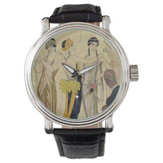 The Judgement of Paris, 1920-30 (pochoir print) Wristwatch