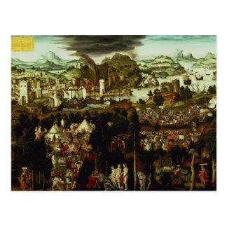 The Judgement of Paris and the Trojan War, 1540 Postcard