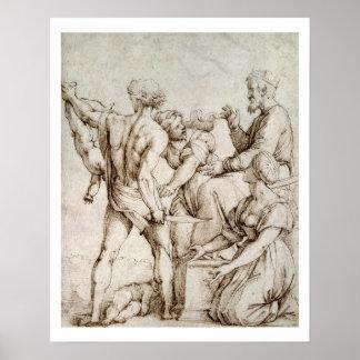 The Judgement of Solomon (pen & ink) Print