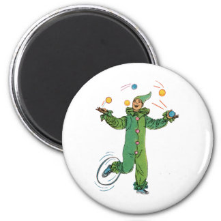 The Juggling Clown Refrigerator Magnet