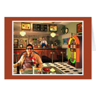 The Jukebox Diner Brown Card