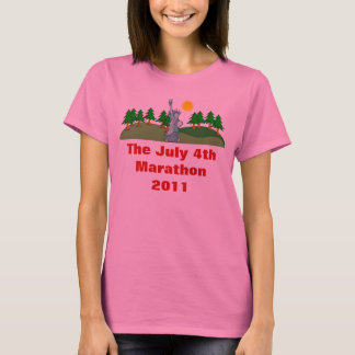 The July 4th Marathon Ladies Long Sleeve T-Shirt