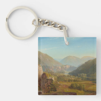 The Juniata River, Pennsylvania by Thomas Moran Keychain