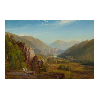The Juniata River, Pennsylvania by Thomas Moran Poster