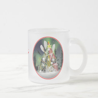 The Kayak Christmas Tree Aurora Borealis Frosted Glass Coffee Mug