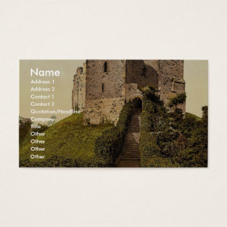 The Keep, Arundel Castle, England vintage Photochr Business Card
