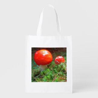 The keep silent amanita snuffs reusable grocery bag