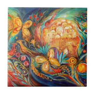The Key of Jerusalem Tile
