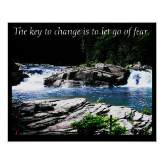 The Key to Change ~ Inspirational Nature Photo Poster