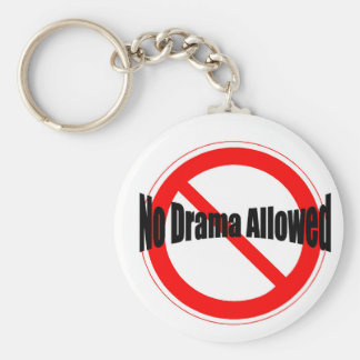The key to happines is no drama keychain