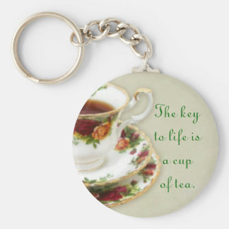 The Key To Life Basic Round Button Keychain