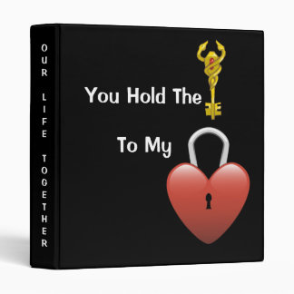 The Key To My Heart - Designer Photo Album-Binder Vinyl Binder