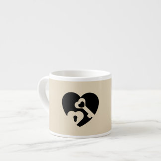 The key to my heart espresso cup