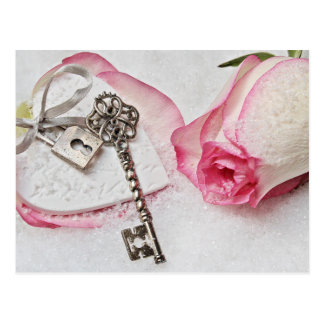 the key to my heart postcard