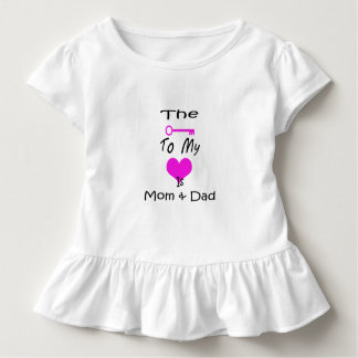 The Key To My Heart Toddler Ruffle Tee