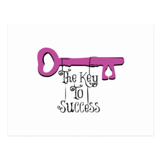 The Key To Success Post Cards