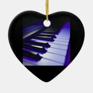 The Keyboard's Keys Ceramic Heart Ornament