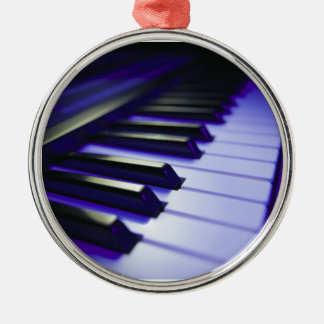 The Keyboard's Keys Silver-Colored Round Ornament