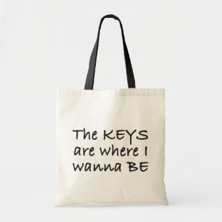 The Keys are Where I Wanna Be Canvas Bag