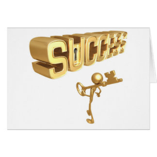The Keys to Success Greeting Card