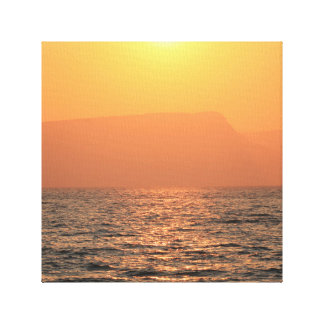 The kineret view during sun set in the holy land. canvas print