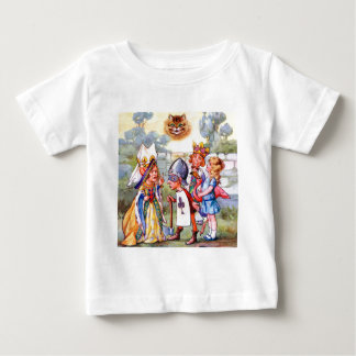 The King and Queen of Hearts and the Cheshire Cat Baby T-Shirt