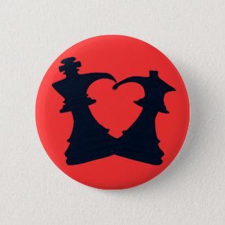 The king and the queen are in love 2 inch round button