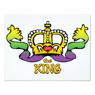 The King gets the BIG beads Card